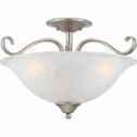 Duchess- European Style Duchess Semi-Flush Mount In Antique Nickel Finish From Quoizel Lighting- DH1718AN