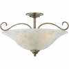 Duchess- European Style Duchess Semi-Flush Mount In Antique Nickel Finish From Quoizel Lighting- DH1722AN