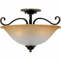 Duchess- European Style Duchess Semi-Flush Mount In Palladian Bronze Finish From Quoizel Lighting- DH1718PN