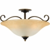Duchess- European Style Duchess Semi-Flush Mount In Palladian Bronze Finish From Quoizel Lighting- DH1722PN