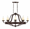 Savoy House (1-2011-8-05) Elba 8 Light Oval Chandelier in Oiled Copper Finish