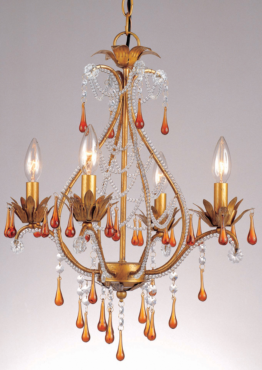 Elements Collection 4940 4H Josephine 4 Light Mini Chandelier By AF Lighting