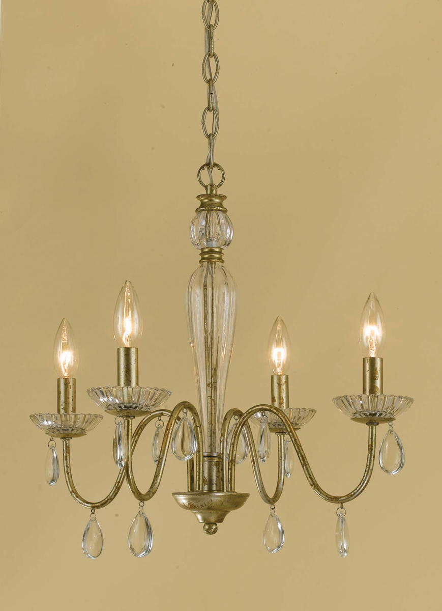 Elements Collection 7004 4H Judy 4 Light Mini Chandelier By AF Lighting