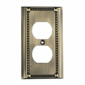 ELK Lighting (2500AB) Decorative Outlet Plate Cover, Single (6-Pack)