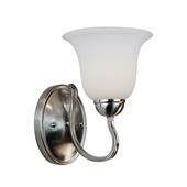 Farmhouse 1 Light Wall Sconce shown in Brushed Nickel by Trans Globe Lighting