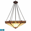 Landmark Lighting (622-AB-LED) Filigree 3 Light Pendant in Aged Bronze Finish