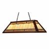 Landmark Lighting (70112-4) Tiffany Game Room Lighting 4 Light Billiard/Island Light in Dark Mahogany Wood Finish