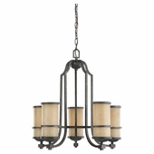 Five Light Roslyn Chandelier