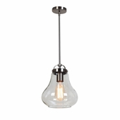 Flux Vintage Lamped Pendant shown in Antique Nickel by Access Lighting
