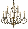 Framburg Lighting (2219) 9-Light Black Forest Dining Chandelier