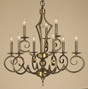 Framburg Lighting (2219) Nine Light Chandelier from the Black Forest Collection