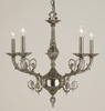 Framburg Lighting (2877) Five Light Chandelier from the Napoleonic Collection