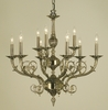 Framburg Lighting (2879) Nine Light Chandelier from the Napoleonic Collection