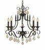 Framburg Lighting (2975) 6-Light Liebestraum Dining Chandelier