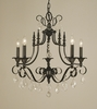 Framburg Lighting (2975) Six Light Chandelier from the Liebstraum Collection