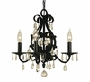 Framburg Lighting (2984) 4-Light Liebestraum Mini Chandelier