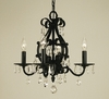 Framburg Lighting (2984) Four Light Chandelier from the Liebstraum Collection