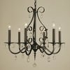 Framburg Lighting (2986) Six Light Chandelier from the Liebstraum Collection