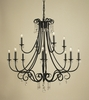 Framburg Lighting (2997) Twelve Light Chandelier from the Liebstraum Collection