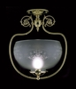 Framburg Lighting (7811) Single Light Semi-Flush Mount from the Chancery Collection