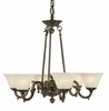 Framburg Lighting (7886) 6-Light Napoleonic Dining Chandelier