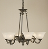 Framburg Lighting (7886) Six Light Chandelier from the Napoleonic Collection
