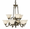 Framburg Lighting (7889) 9-Light Napoleonic Dining Chandelier