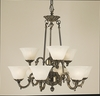 Framburg Lighting (7889) Nine Light Chandelier from the Napoleonic Collection