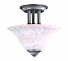 Framburg Lighting (9157) Two Light Semi-Flush Mount from the Black Forest Collection