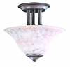 Framburg Lighting (9158) Two Light Semi-Flush Mount from the Black Forest Collection