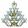 Framburg Lighting (9166) 24-Light Black Forest Foyer Chandelier