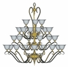Framburg Lighting (9166) Twenty Four Light Chandelier from the Black Forest Collection