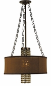 Framburg Lighting - Angelique Dinette Chandeliers in Polished Silver w/ white sheer shade & Teak Crystal - FBG-1953