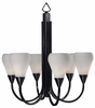 Framburg Lighting - Aurora Dining Chandeliers in Charcoal w/ Ebony Accents - FBG-1276