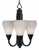 Framburg Lighting - Aurora Mini Chandeliers in Charcoal w/ Ebony Accents - FBG-1274