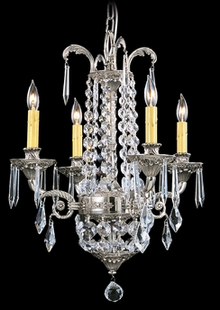 Framburg Lighting - Baronness Mini Chandeliers in Polished Silver - FBG-1144