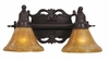 Framburg Lighting (1502) Two Light Bath Fixture from the Centennial Collection