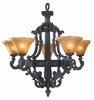 Framburg Lighting (1505) Five Light Chandelier from the Centennial Collection