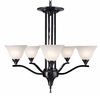 Framburg Lighting - Bellevue Dining Chandeliers in Ebony - FBG-9305