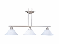 Framburg Lighting - Bellevue Island Chandeliers in Brushed Stainless/Polished Nickel - FBG-9303