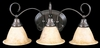 Framburg Lighting - Black Forest Bath and Sconces in Satin Pewter/White - FBG-9173