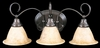 Framburg Lighting (9173) Three Light Bath Fixture from the Black Forest Collection