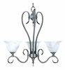 Framburg Lighting (9153) 3-Light Black Forest Dinette Chandelier