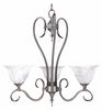 Framburg Lighting - Black Forest Dinette Chandeliers in Mahogany Bronze/Amber Marble - FBG-9153