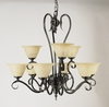 Framburg Lighting (9159) Nine Light Chandelier from the Black Forest Collection