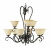Framburg Lighting (9159) 9-Light Black Forest Dining Chandelier