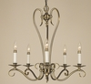 Framburg Lighting (9155) Five Light Chandelier from the Black Forest Collection