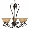 Framburg Lighting (9155) 5-Light Black Forest Dining Chandelier