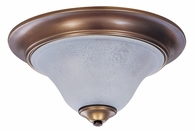 Framburg Lighting - Black Forest Flush Mounts and Semi-Flush Mounts in Harvest Bronze/White Marble - FBG-9150