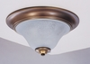 Framburg Lighting (9150) Two Light Flush Mount from the Black Forest Collection